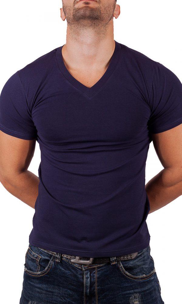Мъжка тениска V-образно деколте