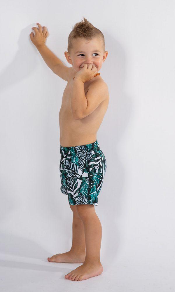 Детски плувни шорти – зелено