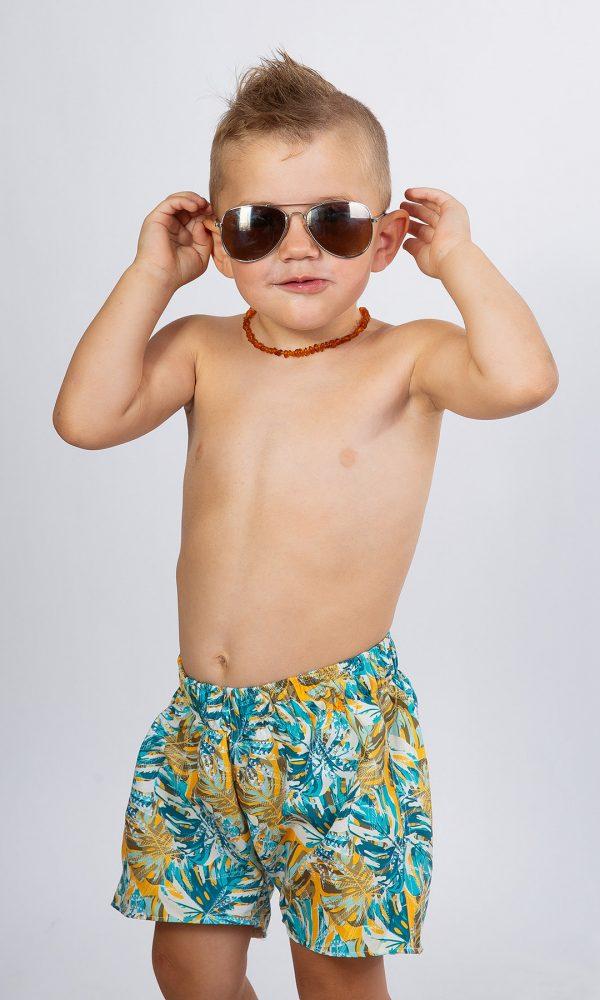 Детски плувни шорти – синьо