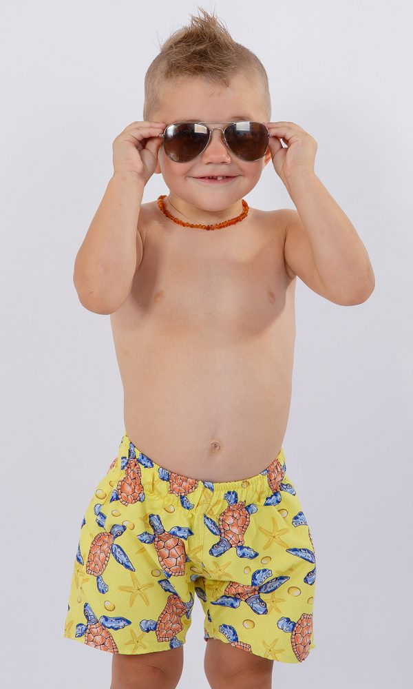Детски плувни шорти – жълто