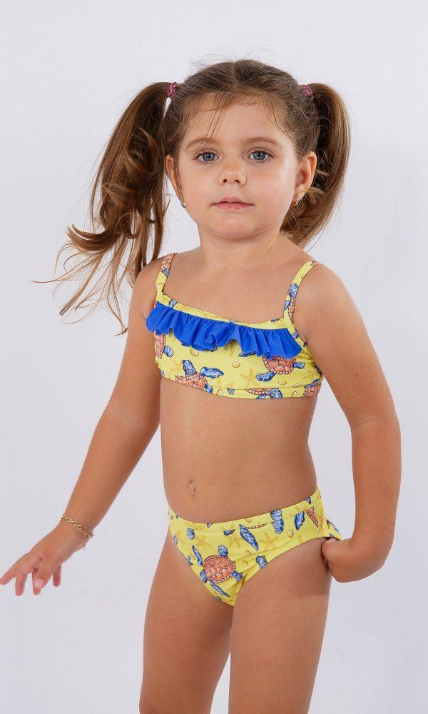Детски бански бюстие – жълто