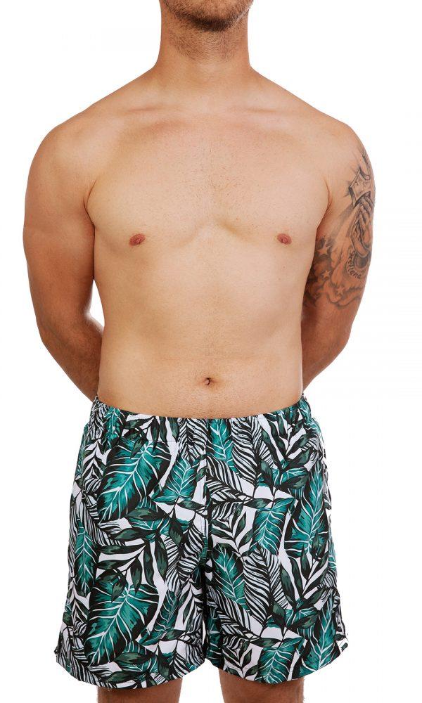 Мъжки плувни шорти -зелено