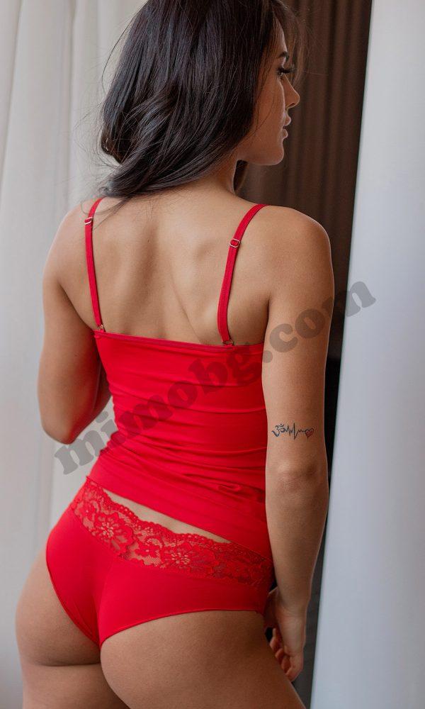 Дамски комплект бразилияна с коланче
