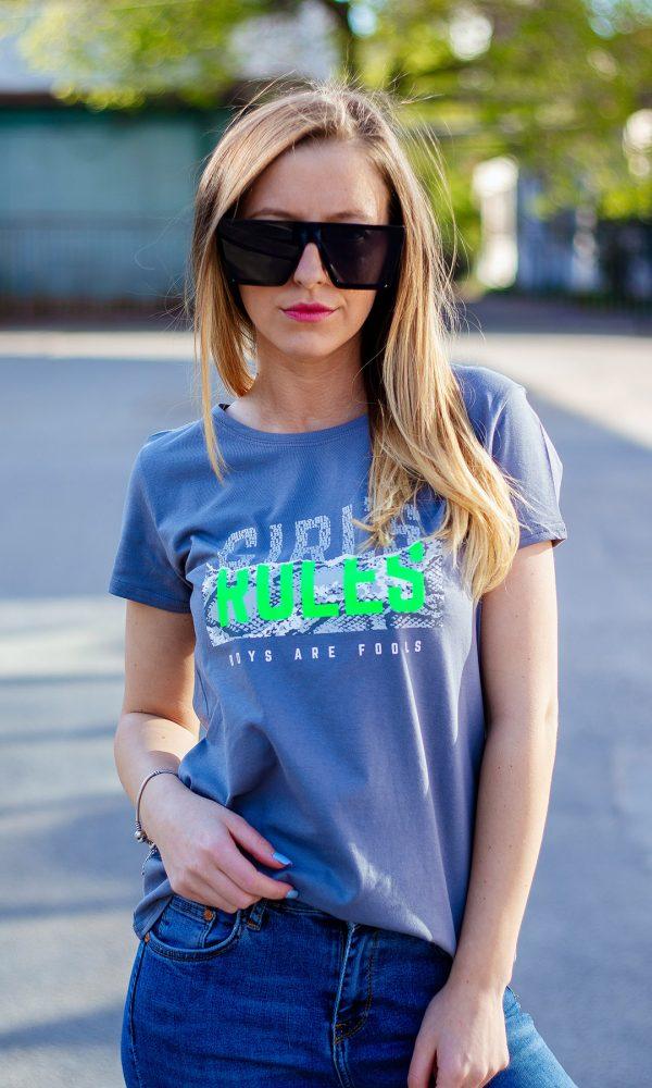 Дамска тениска – Girl's RULES