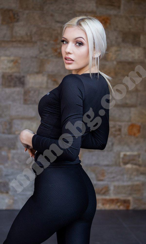 """Дамска блуза за спорт """"mimo"""" – BLACK R"""