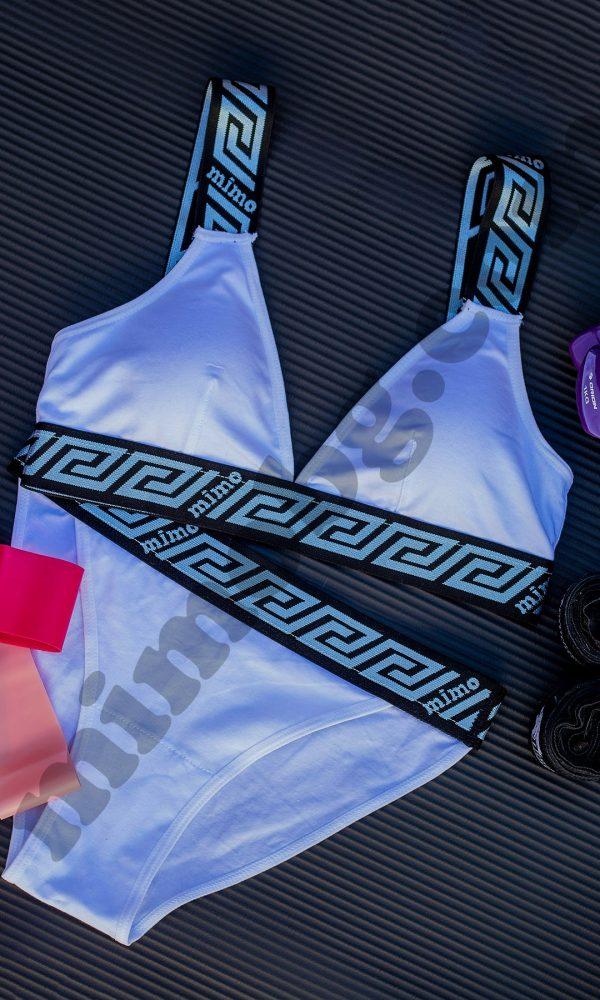 Спортен сутиен с бикини – WHITE